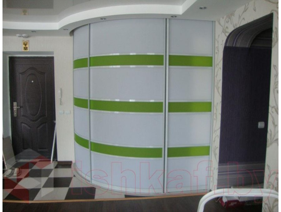 Радиусный шкаф-купе №09